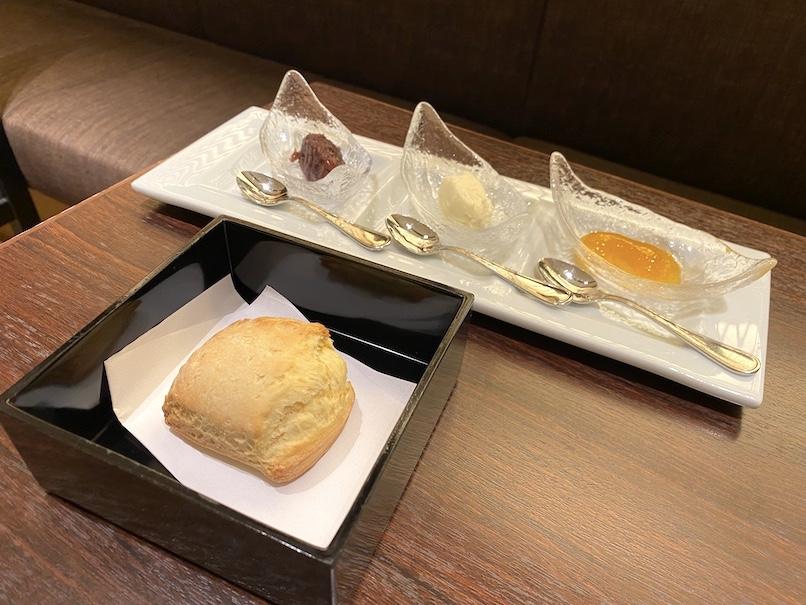 コートヤード・マリオット銀座東武ホテルのアフタヌーンティー:スコーン+あんこ、クロテッドクリーム、ジャム