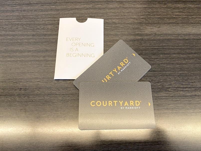 コートヤード・マリオット銀座東武ホテルのカードキー