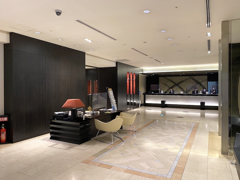 コートヤード・マリオット銀座東武ホテルのレセプション