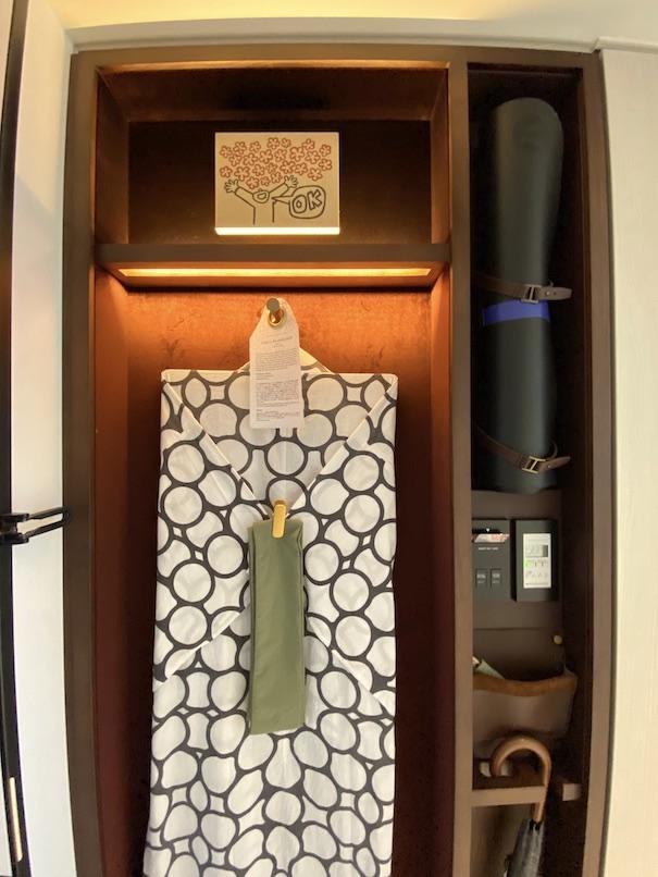 キンプトン新宿東京 客室:クローゼット(浴衣)
