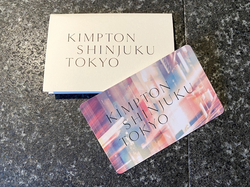 キンプトン新宿東京:チェックイン(ルームキー)