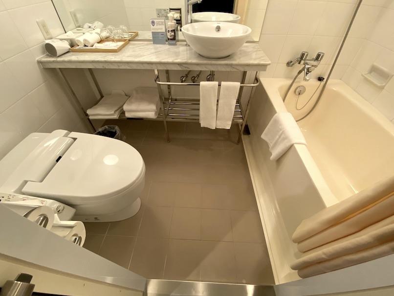 メルキュール東京銀座の客室:バスルーム