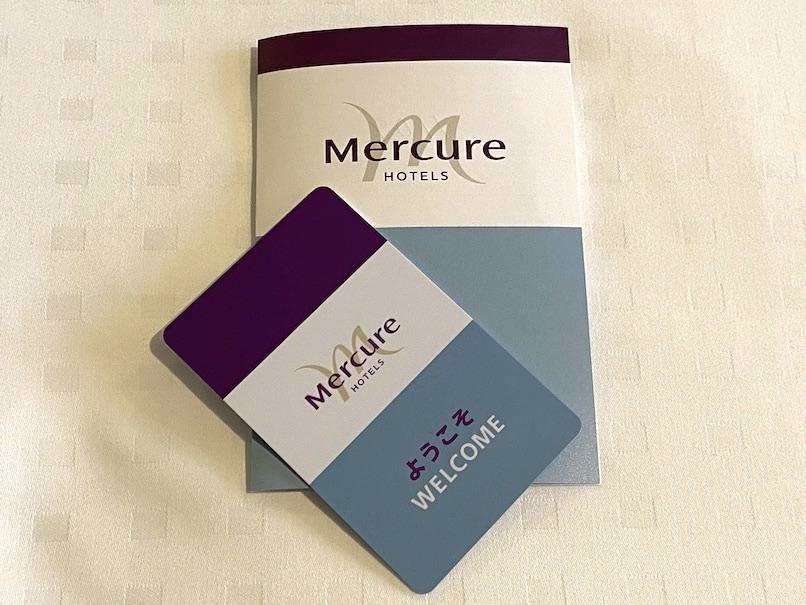 メルキュール東京銀座:ホテルのキーカード