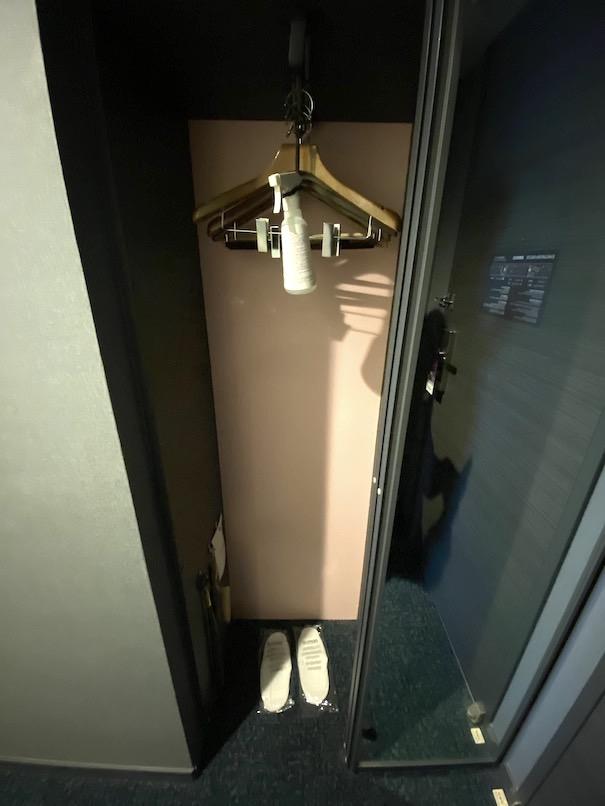 メルキュール東京銀座の客室:クローゼット