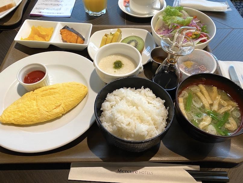 メルキュール東京銀座の朝食:和食セット