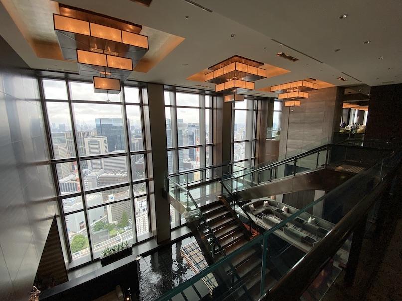 マンダリンオリエンタル東京:ロビーからの眺望