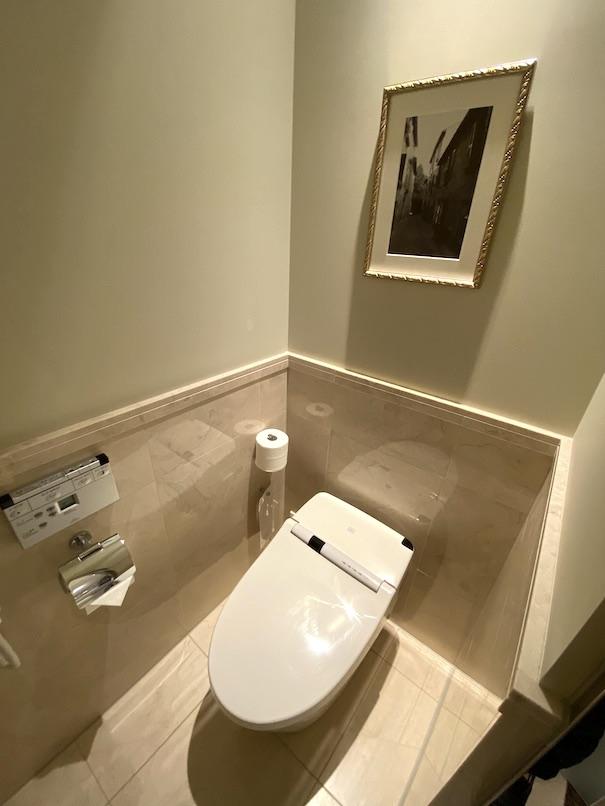 東京ステーションホテルの客室:バスルーム(トイレ)