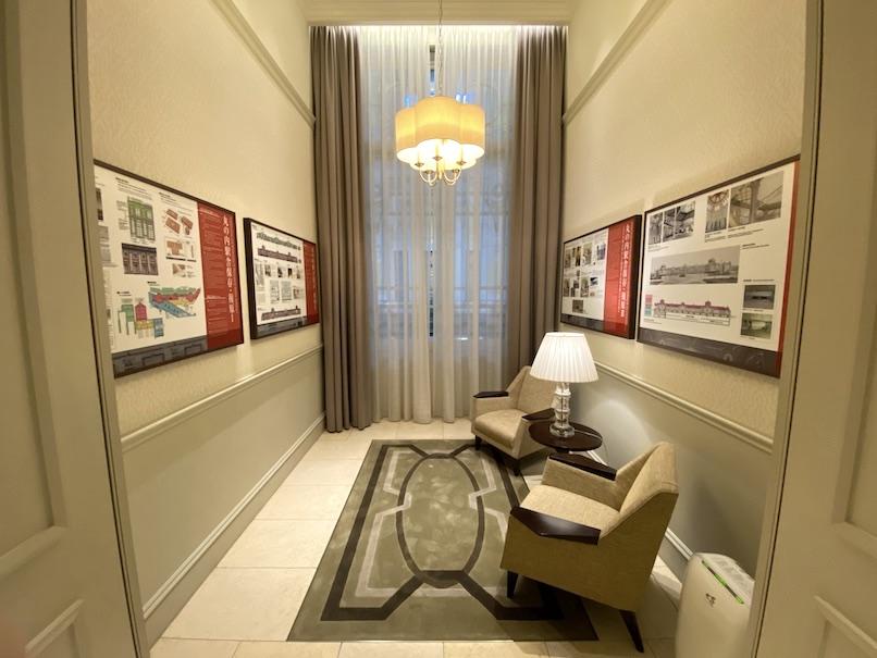 東京ステーションホテルの館内ツアー:アーカイブバルコニー(全体像)