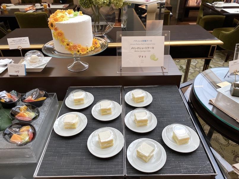 東京ステーションホテル「アトリウム」:朝食ビュッフェ(メロンショートケーキ)