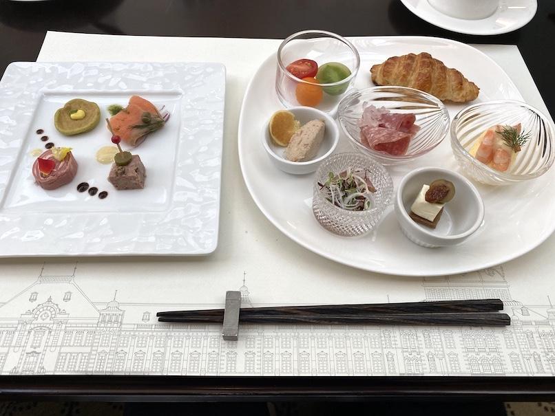東京ステーションホテル「アトリウム」:朝食(洋前菜)