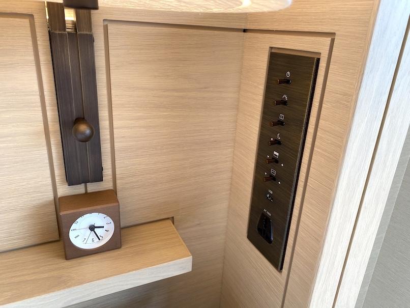 HOTEL THE MITSUI KYOTO(ホテルザ三井京都)の客室:ベッドサイド(照明ボタン)
