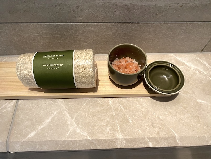 HOTEL THE MITSUI KYOTO(ホテルザ三井京都)の客室:へちま&バスソルト