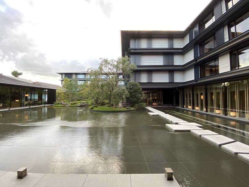 HOTEL THE MITSUI KYOTO(ホテルザ三井京都)の中庭:全体像