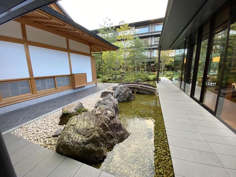 HOTEL THE MITSUI KYOTO(ホテルザ三井京都)の中庭:日本家屋
