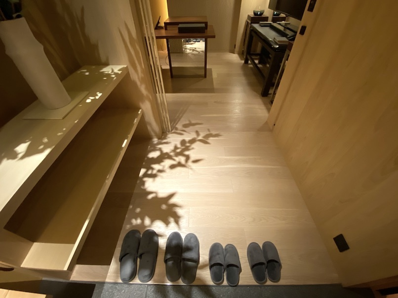 HOTEL THE MITSUI KYOTO(ホテルザ三井京都)「プライベート温泉」:玄関