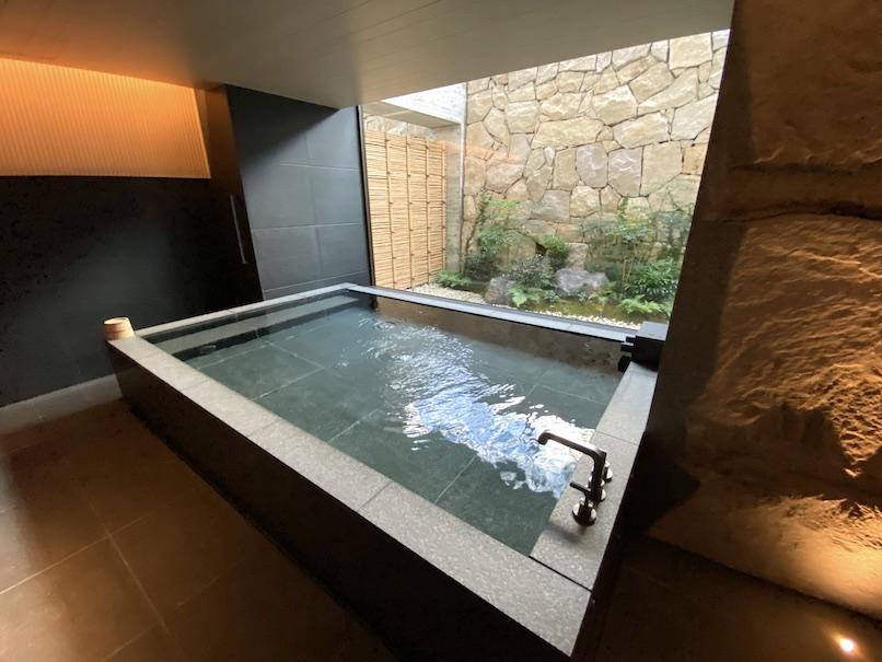 HOTEL THE MITSUI KYOTO(ホテルザ三井京都)「プライベート温泉」:浴槽