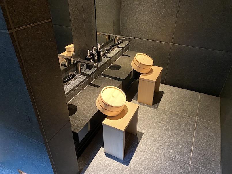HOTEL THE MITSUI KYOTO(ホテルザ三井京都)「プライベート温泉」:洗い場