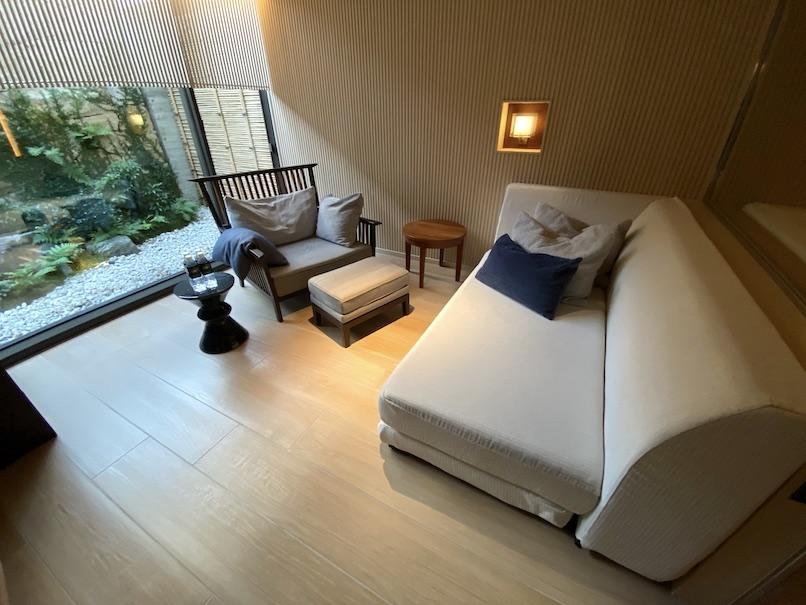 HOTEL THE MITSUI KYOTO(ホテルザ三井京都)「プライベート温泉」:リビング