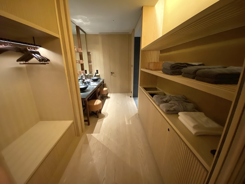 HOTEL THE MITSUI KYOTO(ホテルザ三井京都)「プライベート温泉」:脱衣所