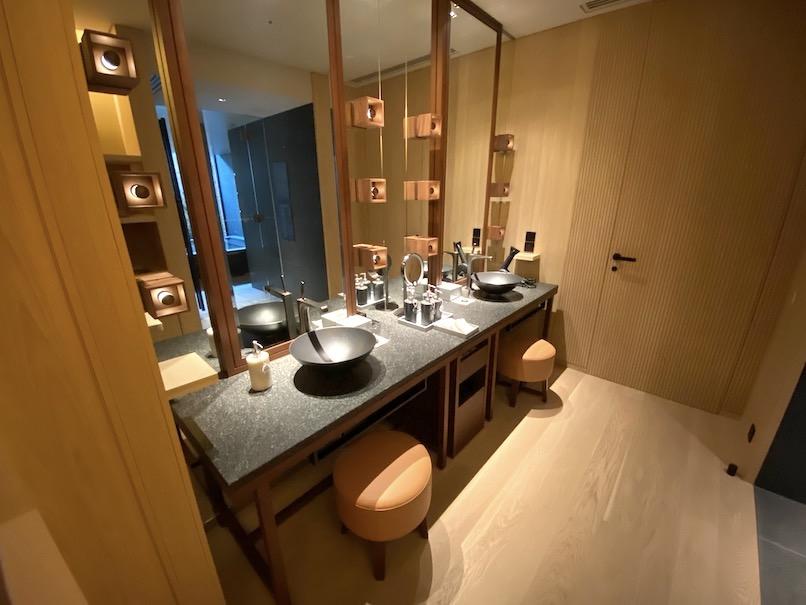 HOTEL THE MITSUI KYOTO(ホテルザ三井京都)「プライベート温泉」:洗面台
