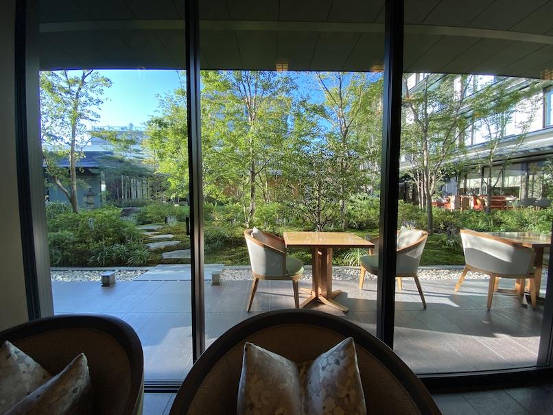 HOTEL THE MITSUI KYOTO(ホテルザ三井京都)の朝食:席からの眺望