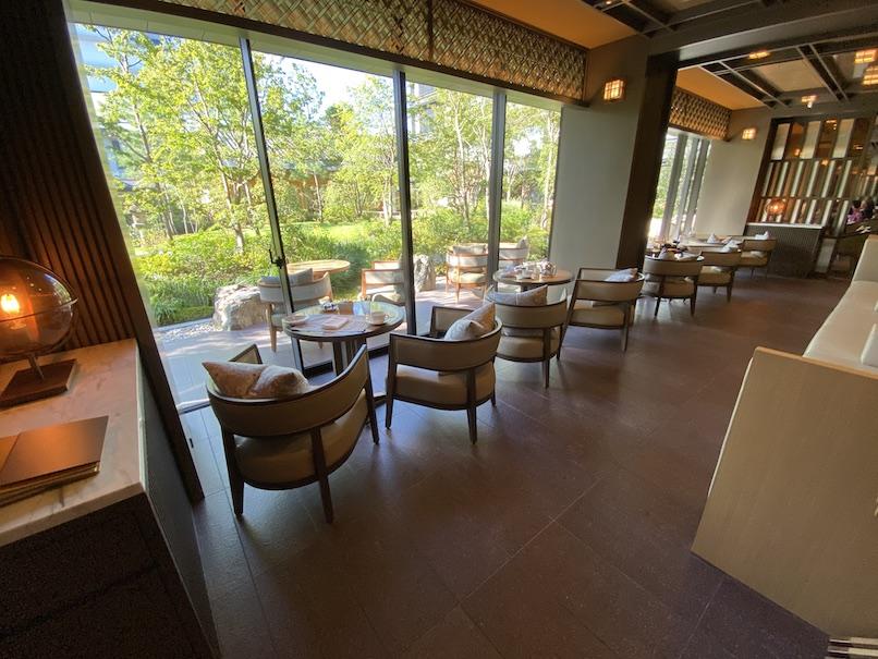 HOTEL THE MITSUI KYOTO(ホテルザ三井京都):レストラン「FORNI」の内観(窓際席)