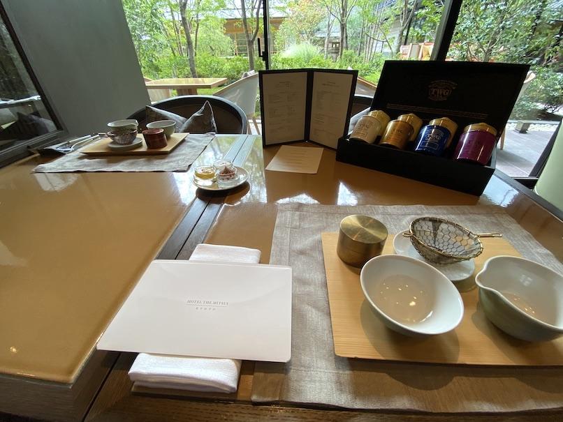 HOTEL THE MITSUI KYOTO(ホテルザ三井京都)のアフタヌーンティー:テーブルセッティング