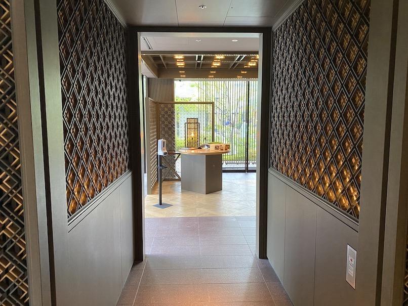 HOTEL THE MITSUI KYOTO(ホテルザ三井京都):レストラン「FORNI」のアプローチ